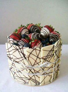 Bonira maners de presentar las fresas