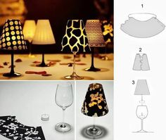 Make a candle from wine glass