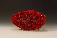 """Byul Go """"A Red Seed"""" ceramic http://www.morganglassgallery.com/imagepages/go_red_seed.htm"""