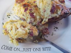 One Bite..Cheesy Amish Breakfast Casserole @The Boiled Noodle