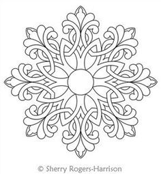 Snowflake mandala to color- available in PNG and JPG