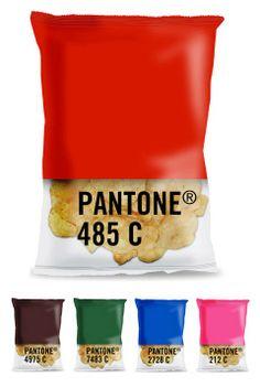 Packaging de produits - Des paquets de chips nuancier pantone