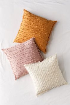 Trimmed allover in rows of eyelash fringe this woven throw pillow lends pretty texture to any space. Content Care 100 Cotton polyester fill Machine wash Imported Size Dimensions 20 l x 20 w Boho Throw Pillows, Orange Throw Pillows, Cute Pillows, Colorful Pillows, Decorative Throw Pillows, Blush Throw Pillow, Decorative Accents, Throw Blankets, Throw Pillow Covers