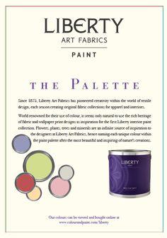 Free #Liberty #Paint colour card now available contact enquiries@colourandpaint.com