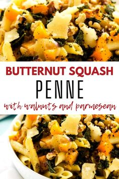 This Gluten Free Butternut Squash Penne is a fabulous vegetarian meal. It is full of flavor and nutrition. This easy weeknight meal is so good! Gluten Free Recipes For Breakfast, Healthy Gluten Free Recipes, Gluten Free Dinner, Healthy Pasta Recipes, Healthy Meats, Healthy Pastas, Pasta With Walnuts, Vegetarian Meal, Animal Crackers
