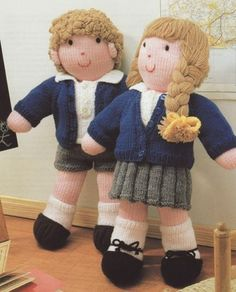 Harry Potter doll and Draco Malfoy doll knitting pattern ...