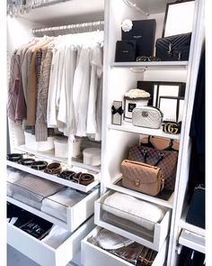 Walk In Closet Design, Bedroom Closet Design, Master Bedroom Closet, Closet Designs, Bathroom Closet, Small Walk In Closet Ideas, Closet Ideas For Small Spaces Bedroom, Spare Room Closet, Narrow Closet