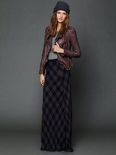 Perfect for fall. Cameron Plaid Maxi Skirt. http://www.freepeople.com/whats-new/cameron-plaid-maxi-skirt/