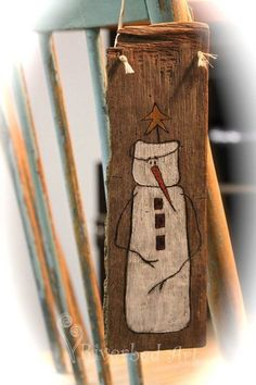 Items similar to Primitive Snowman Woodburned & Painted on Driftwood Wall Decor on Etsy Pallet Christmas, Primitive Christmas, Christmas Snowman, Rustic Christmas, Christmas Projects, Christmas Trees, Father Christmas, Christmas Decorations, Wooden Snowmen