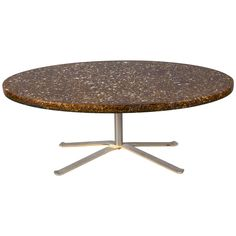 Coffee Table with an Oval Resin Top, circa 1970, by Pierre Giraudon | From a unique collection of antique and modern coffee and cocktail tables at https://www.1stdibs.com/furniture/tables/coffee-tables-cocktail-tables/
