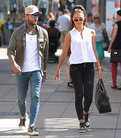 So in love: Megan McKenna and her boyfriend Pete Wicks were also seen out and about in Ess...
