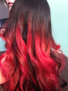 Copper to Red ombré by Maranda