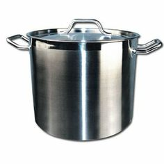 Winware Stainless 20-Quart Steel Stock Pot with Cover by Winco USA. $67.31. 20 quart stock pot. Durable commercial grade. Heavy gauge stainless steel cover. NSF Listed. Heavy weight stainless with encapsulated bottom. Winware Stainless Steel Stock Pot 20 Quart with Cover. Save 41% Off!