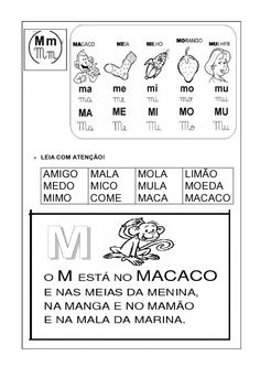 livro alfabetico silabas simples 17 Portuguese Lessons, Learn Portuguese, Education, Learning, Preschool Literacy Activities, Reading Activities, M Letter, Index Cards, Activities