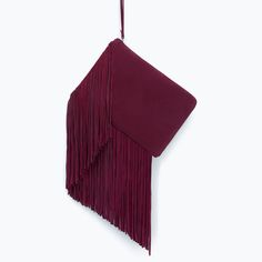 Want - ZARA - COLLECTION AW15 - LEATHER CLUTCH WITH FRINGES