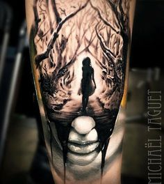 Image result for surreal raven tattoo