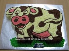 Homemade Cow Cake Idea: This is a Homemade Cow Cake Idea I made and iced for one of my work colleagues - we work for a dairy consultancy company and Andrew also breeds and shows