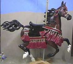 """""""Kismet""""--A one-of-a-kind, hand-carved Arabian horse in Native costume Carousels All The Pretty Horses, Beautiful Horses, Carosel Horse, Wooden Horse, Painted Pony, Merry Go Round, Horse Sculpture, Equine Art, Mandala"""