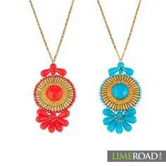 7359594e4a1 That s the way to go this Diwali. We can t decide which colour to pick out  of these two gorgeous necklaces. LIMEROAD COM