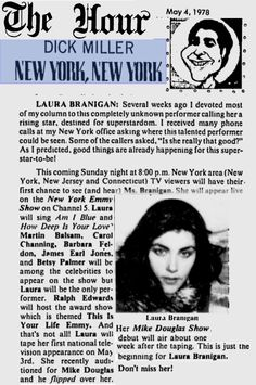"""1978, The Hour, Ct, says """"Laura Branigan, Don't miss her"""""""