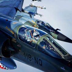 """""""Mirage of the French Air Force. Airplane Fighter, Fighter Aircraft, Fighter Jets, Military Jets, Military Aircraft, Dassault Aviation, Airplane Design, Nose Art, Air Force"""