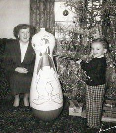 Little boy's Christmas presents, 1950 {Goofy never saw it coming!}