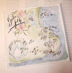 Custom Illustrated Wedding Map by eDanae on Etsy, $395.00