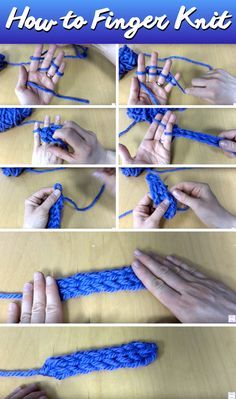 Here's How You Can Create Remarkable Winter-Wear With Finger Knitting! – Cute DIY Projects Here's How You Can Create Remarkable Winter-Wear With Finger Knitting! Always wanted to learn to knit, but undecided the. Knitting Terms, Arm Knitting, Knitting Patterns, Crochet Patterns, Scarf Patterns, Knitting Machine, Knitting With Hands, Knitting For Kids, Stitch Patterns