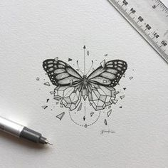 Geometric Beasts | Butterfly One of the highly requested 'beasts' for the series. The postcard collection is dropping soon