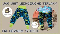 Jednoduché tepláky s kulatým sedem do nápletu | Caramilla Easy Handbag Patterns, Textiles, Boys Wear, Kids And Parenting, Cool Things To Make, Sewing Tutorials, Make It Yourself, Youtube, Scrappy Quilts