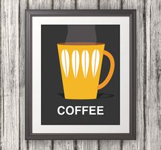 Coffee, Scandinavian Inspired Print, Coffee Print, Coffee Poster, Coffee Art - 8x10. $12.00, via Etsy.