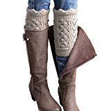 FAYBOX Women's Short Leg Warmer Crochet Boot Cover (Short Khaki)   Material: Acrylic, Cotton blend with good hand feel boot socks Package includes: 1 pair of leg warmer Style 1:Floral knitted with fashionable hollow outs boot cuffs Style 2:Short Leg Warmer Mixed Color Button Flanging...