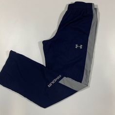 Brand: Under Armour Size: Boy's Large Style: Athletic Pants, Loose fit Color: Blue, Gray Condition: Pre-owned, in great shape. There is some pilling on the inside of the pant legs (shown in pictures) Mens Jogger Pants, Athletic Pants, Aba, Loose Fit, Color Blue, Sportswear, Trousers, Sweatpants, Shape