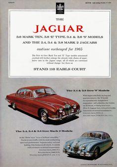 1965 Jaguar 3.8 Mark Ten, 3.8 & 3.8 'S' Models and the 2.4, 3.4 & 3.8 Mark 2