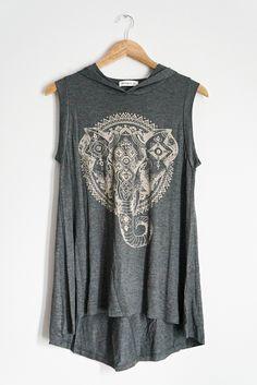 Hooded Elephant Top