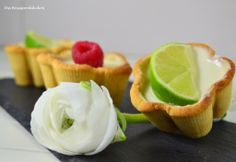 Lime Cookie Cups with lime panna cotta