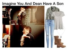 """Imagine You And Dean Have A Son"" by alyssaclair-winchester ❤ liked on Polyvore featuring American Eagle Outfitters, American Vintage, H&M, Charlotte Russe, imagine, supernatural and DeanWinchester"