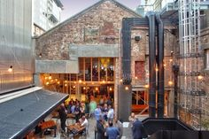 A beautiful restoration of the old Roxy theatre in Auckland   Everbody's rooftop courtyard.