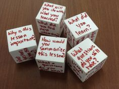 Another super easy and effective processing activity- the debrief dice! I've made these from dollar store dice before. Roll the die, answer the question. The dollar store foam dice double as toss-able toys too