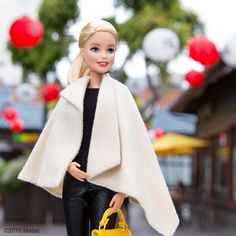Style tip: wear an extra layer for the plane that's both cozy and chic. Jetting back to Cali after a whirlwind trip to New York! ✈️ #barbie #barbiestyle
