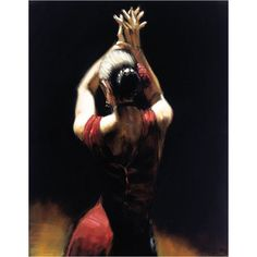 Handmade lady Spanish flamenco dancer oil painting woman figure dance on canvas modern office art decoration for wall decor