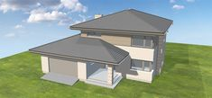 Projekt domu Korso 2 175,94 m2 - koszt budowy - EXTRADOM Small House Plans, Modern House Design, Bungalow, Gazebo, Architecture Design, Sweet Home, Construction, Exterior, Outdoor Structures