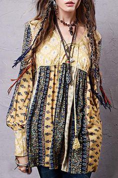 Long Sleeve High-Waisted Tunic Dress