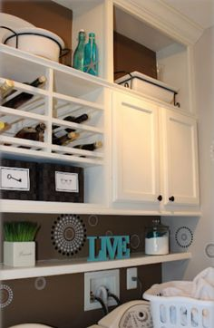 Short Cabinets Heightened To The Ceiling