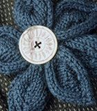 Knit Flower - Hannele - Berroco® Free Pattern.  Just add an alligator clip with a felt circle for a great hair accessory