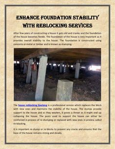 Enhance Foundation Stability With Reblocking Geelong Getting Old, Home Renovation, Stability, Concrete, Home Improvement, Foundation, Construction, Presentation, House