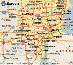 nice Detroit Metro Map