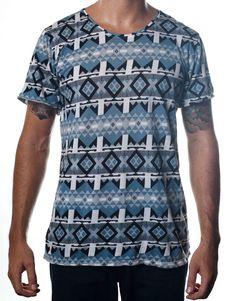 Nemis Clothing Aztec Tee Blue www.nemisclothing.com