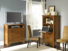 Rose Valley High Boy TV stand and laptop cabinet in beautiful Abbey Oak finish.