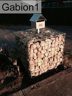 Gabion lettebox.  Low Cost gabions Cheaper than block stone gabion walls are easy to build  http://www.gabion1.com.au